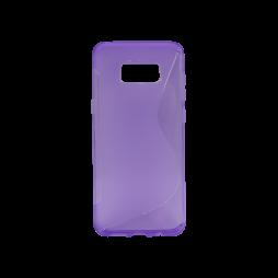 Samsung Galaxy S8+ - Gumiran ovitek (TPU) - vijolično-prosojen SLine