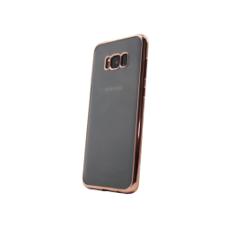 Samsung Galaxy S8 - Gumiran ovitek (TPUE) - rob roza-zlat