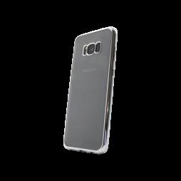 Samsung Galaxy S8 - Gumiran ovitek (TPUE) - rob srebrn