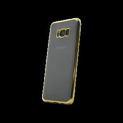 Samsung Galaxy S8 - Gumiran ovitek (TPUE) - rob zlat