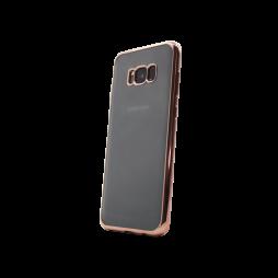 Samsung Galaxy S8+ - Gumiran ovitek (TPUE) - rob roza-zlat
