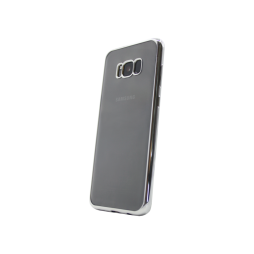 Samsung Galaxy S8+ - Gumiran ovitek (TPUE) - rob srebrn