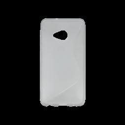 HTC U Play - Gumiran ovitek (TPU) - sivo-prosojen SLine