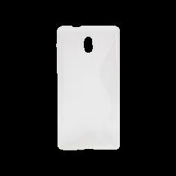 Nokia 3 - Gumiran ovitek (TPU) - belo-prosojen SLine
