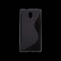 Nokia 3 - Gumiran ovitek (TPU) - črn SLine
