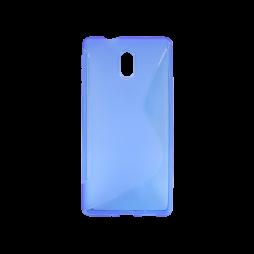 Nokia 3 - Gumiran ovitek (TPU) - modro-prosojen SLine