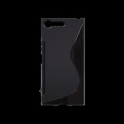 Sony Xperia XZ Premium - Gumiran ovitek (TPU) - črn SLine