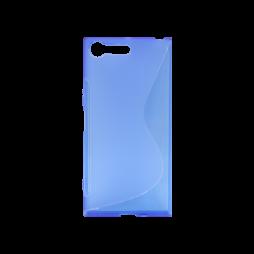 Sony Xperia XZ Premium - Gumiran ovitek (TPU) - modro-prosojen SLine