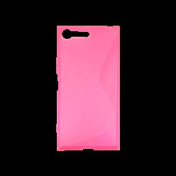 Sony Xperia XZ Premium - Gumiran ovitek (TPU) - roza-prosojen SLine
