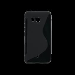 HTC U11 - Gumiran ovitek (TPU) - črn SLine
