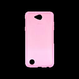 LG X Power 2 - Gumiran ovitek (TPU) - roza-prosojen svetleč
