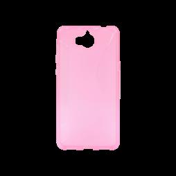 Huawei Y6 (2017) / Y5 (2017) - Gumiran ovitek (TPU) - roza-prosojen CS-Type