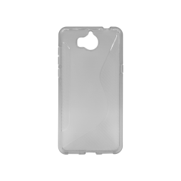 Huawei Y6 (2017) / Y5 (2017) - Gumiran ovitek (TPU) - sivo-prosojen CS-Type