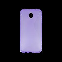 Samsung Galaxy J7 (2017) - Gumiran ovitek (TPU) - vijolično-prosojen CS-Type