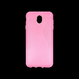 Samsung Galaxy J7 (2017) - Gumiran ovitek (TPU) - roza-prosojen CS-Type