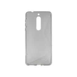 Nokia 5 - Gumiran ovitek (TPU) - sivo-prosojen SLine