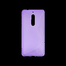 Nokia 5  - Gumiran ovitek (TPU) - vijolično-prosojen SLine