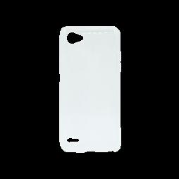 LG Q6 - Gumiran ovitek (TPU) - belo-prosojen svetleč
