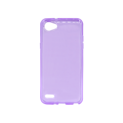 LG Q6 - Gumiran ovitek (TPU) - vijolično-prosojen svetleč