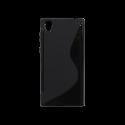 Sony Xperia L1 - Gumiran ovitek (TPU) - črn SLine