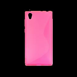 Sony Xperia L1 - Gumiran ovitek (TPU) - roza-prosojen SLine