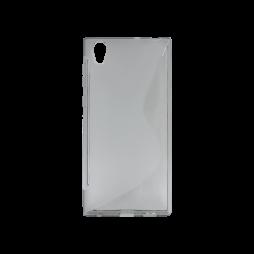 Sony Xperia L1 - Gumiran ovitek (TPU) - sivo-prosojen SLine