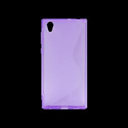 Sony Xperia L1  - Gumiran ovitek (TPU) - vijolično-prosojen SLine