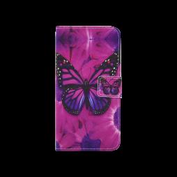 Sony Xperia L1 - Preklopna torbica (WLGP) - Purple butterfly