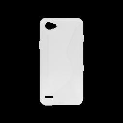 LG Q6 - Gumiran ovitek (TPU) - belo-prosojen CS-Type