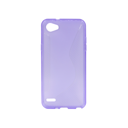 LG Q6 - Gumiran ovitek (TPU) - vijolično-prosojen CS-Type