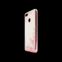 Huawei P9 Lite mini - Gumiran ovitek (TPUE) - roza rob - roza rožice