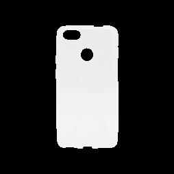 Huawei P9 Lite mini - Gumiran ovitek (TPU) - belo-prosojen svetleč
