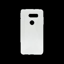 LG V30 - Gumiran ovitek (TPU) - belo-prosojen CS-Type