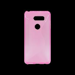 LG V30 - Gumiran ovitek (TPU) - roza-prosojen CS-Type