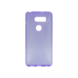 LG V30 - Gumiran ovitek (TPU) - vijolično-prosojen CS-Type