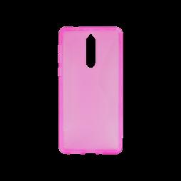 Nokia 8 - Gumiran ovitek (TPU) - roza-prosojen CS-Type