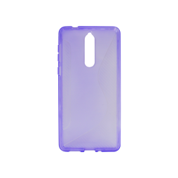 Nokia 8 - Gumiran ovitek (TPU) - vijolično-prosojen CS-Type