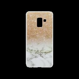 Samsung Galaxy A8 (2018) - Gumiran ovitek (TPUP) - Marble 2