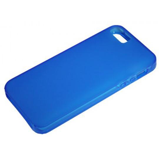 Apple iPhone 5/5S/SE - Gumiran ovitek (TPU) - modro-prosojen mat