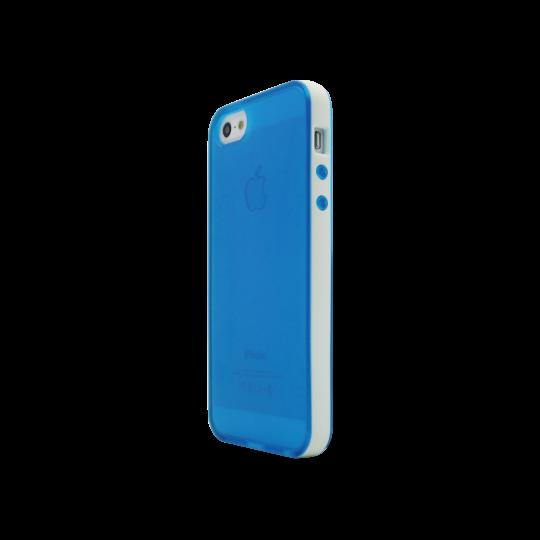 Apple iPhone 5/5S/SE - Gumiran ovitek (17) - modro-prosojen