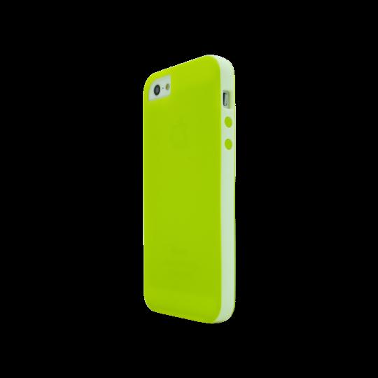 Apple iPhone 5/5S/SE - Gumiran ovitek (17) - zeleno-prosojen
