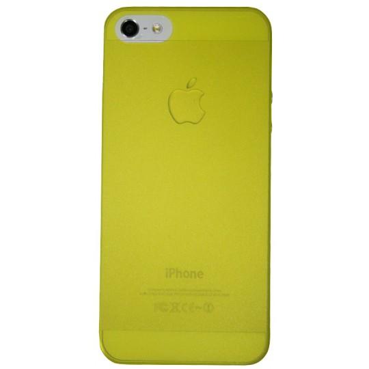 Apple iPhone 5/5S/SE - Okrasni pokrovček (16) - rumeno-prosojen