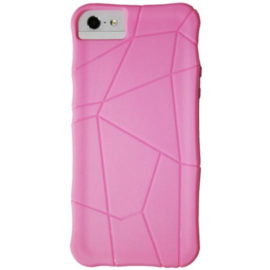 Apple iPhone 5/5S/SE - Gumiran ovitek (TPU) - sv.roza spider