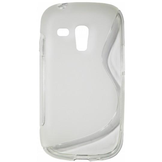 Samsung Galaxy S3 Mini - Gumiran ovitek (TPU) - belo-prosojen SLine