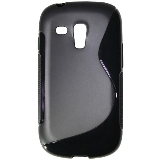 Samsung Galaxy S3 Mini - Gumiran ovitek (TPU) - črn SLine