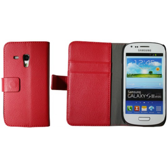 Samsung Galaxy S3 Mini - Preklopna torbica (WL) - rdeča