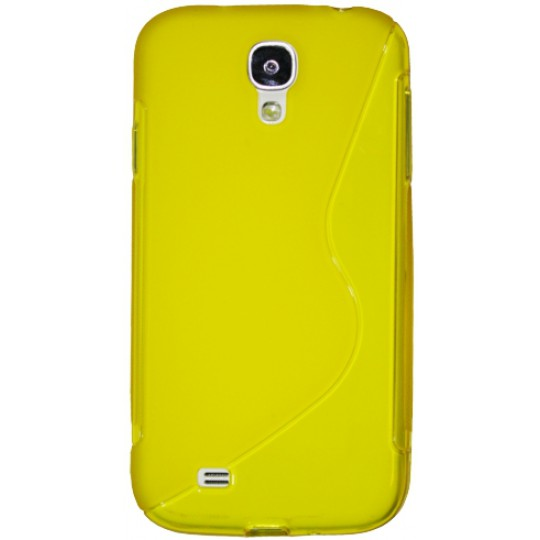 Samsung Galaxy S4 - Gumiran ovitek (TPU) - rumeno-prosojen SLine