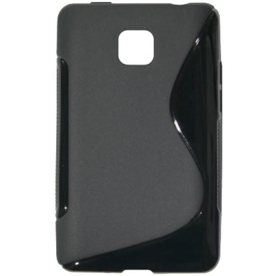 LG Optimus L3 II - Gumiran ovitek (TPU) - črn SLine