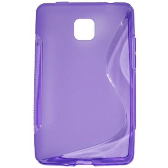 LG Optimus L3 II - Gumiran ovitek (TPU) - vijolično-prosojen SLine