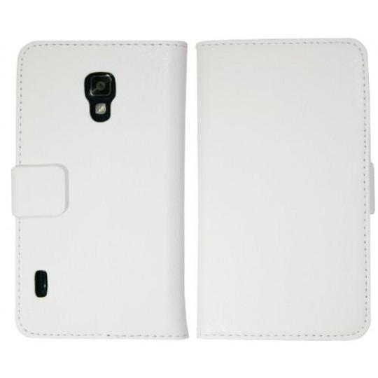 LG Optimus L7 II - Preklopna torbica (WL) - bela
